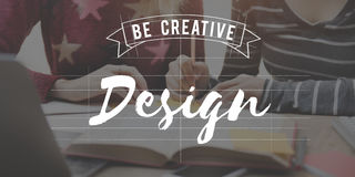 Design Be Creative Art Graphic Concept Royalty Free Stock Images