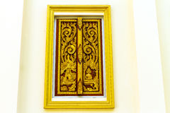 Design beautiful Thai  style architecture temple window Royalty Free Stock Image
