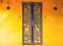 Design beautiful Thai  style architecture temple window at Wat S Stock Images