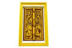 Design beautiful Thai  style architecture temple window Royalty Free Stock Photo