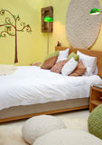 Design of bed in spring theme Royalty Free Stock Photo