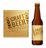 Design of beer label Stock Photo