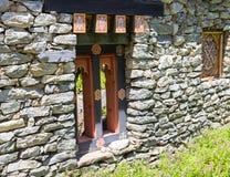 The design of bhutan window Stock Image