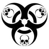 Design with bio-hazard symbol printed Stock Photography