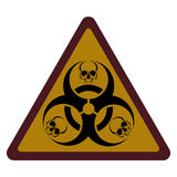 Design with bio-hazard symbol printed Stock Images