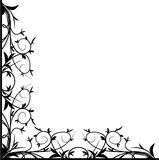 Design black floral corner Royalty Free Stock Photography