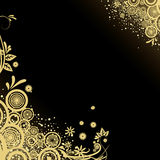 Design black and gold background Stock Images