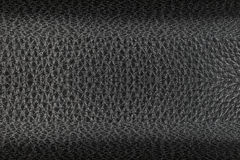 Design on black leather for pattern and background Royalty Free Stock Image