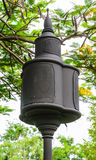 Design black loudspeaker pole Royalty Free Stock Photography
