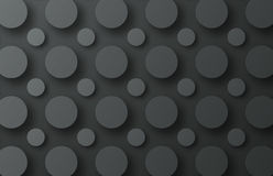 Design of a black metal background with floating circles of diff Stock Photo