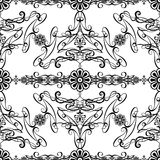 The design black and white vintage style wallpaper. Background by Black-Hard Artstudio Royalty Free Stock Photo