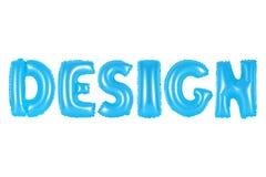 Design, blaue Farbe Stockbild