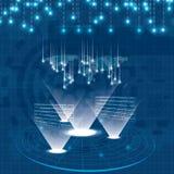Design-Blauhintergrund der Hologrammart futuristischer Lizenzfreies Stockbild