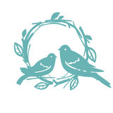 Design with blue birds Vector illustration Stock Images