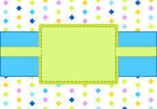 Design blue and green frame Royalty Free Stock Photography