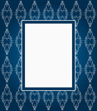 Design blue ornament cover Royalty Free Stock Photography