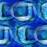 Design blue seamless texture watercolor background Royalty Free Stock Photo