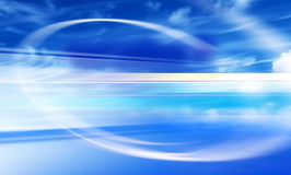 Design with blue sky. Design of blue sky with blur lines royalty free illustration