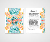 Design of boock cover whit doodle abstract pattern. Stock Images