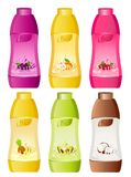 Design of bottle milky products Stock Photo