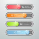 Design botton slide, Modern infographic  template. Royalty Free Stock Photo