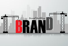 Design brand building concept, Royalty Free Stock Photography