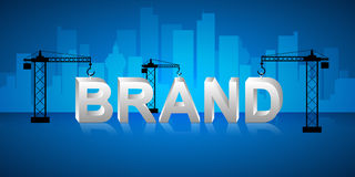Design brand building concept, Royalty Free Stock Photo