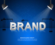 Design brand concept, Brand building background, startup and create brand. Stock Photos