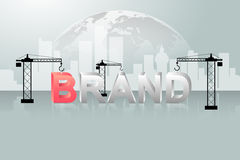 Design brand concept, building brand background, startup and creating brand. Stock Images
