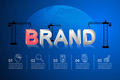 Design brand concept, building brand background, startup and creating brand Stock Photos