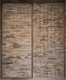 Design brick built door shanghai china Royalty Free Stock Image