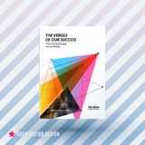 Design of brochure, abstract annual report, cover modern. Layout, flyer in A4 with trendy colourful polygons triangles, abstract shapes for finance with vector Royalty Free Stock Images