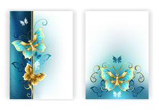 Design for brochure with luxury butterflies Royalty Free Stock Photos