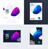 Design of brochure soft template cover. Colourful modern abstract set, annual report with shapes for branding. Design of brochure smooth soft template. Creative royalty free illustration