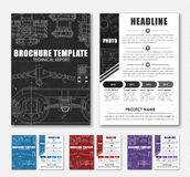 Design brochures with technical drawings Royalty Free Stock Photography