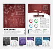 Design brochures with technical drawings Royalty Free Stock Photo