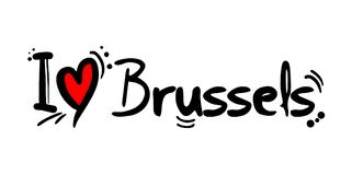Brussels love message Royalty Free Stock Images