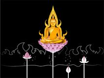 Design of buddha,nirvana concept design in Buddhism Stock Photo
