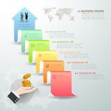 Design business arrow conceptual infographics. Stock Photography