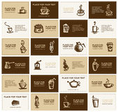 Design of business cards for coffee company Stock Image