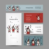 Design of business cards with corporate party Royalty Free Stock Photo