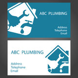 Design business cards for plumbers Royalty Free Stock Photo