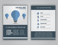 Design business flyers in a flat style Stock Photo