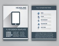 Design business flyers in a flat style Stock Photography