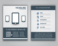 Design business flyers in a flat style Stock Images