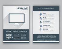 Design business flyers in a flat style Royalty Free Stock Image