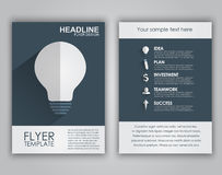 Design business flyers in a flat style Royalty Free Stock Photo