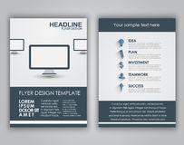 Design business flyers in a flat style Royalty Free Stock Photography