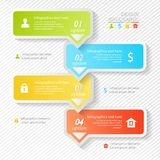 Design business infographics four successive options Royalty Free Stock Photo