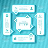 Design business infographics four successive Royalty Free Stock Photography